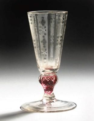A GERMAN engraved goblet