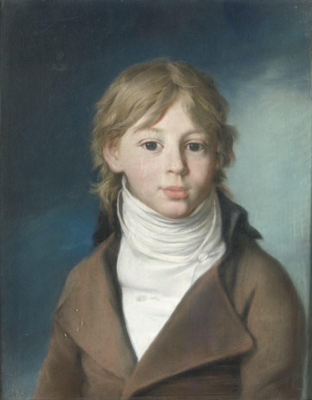 Portrait of Duke Eugen von Würtemberg (1788-1857), half-length, wearing a brown coat