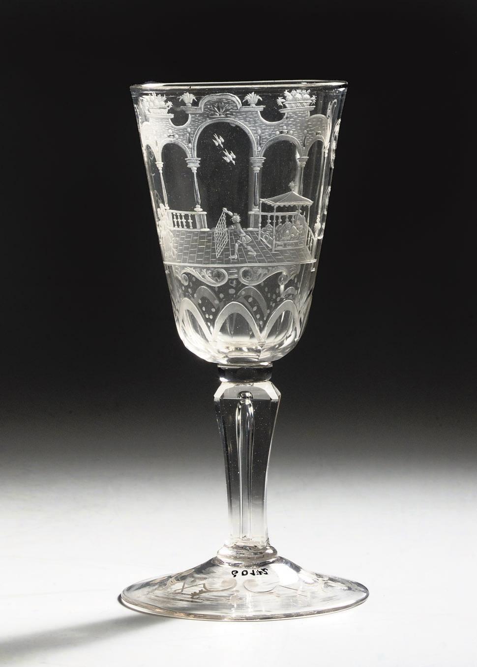 An engraved goblet