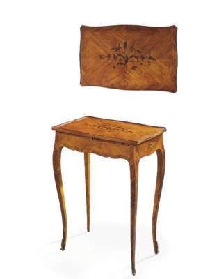 A LOUIS XV TULIPWOOD, KINGWOOD