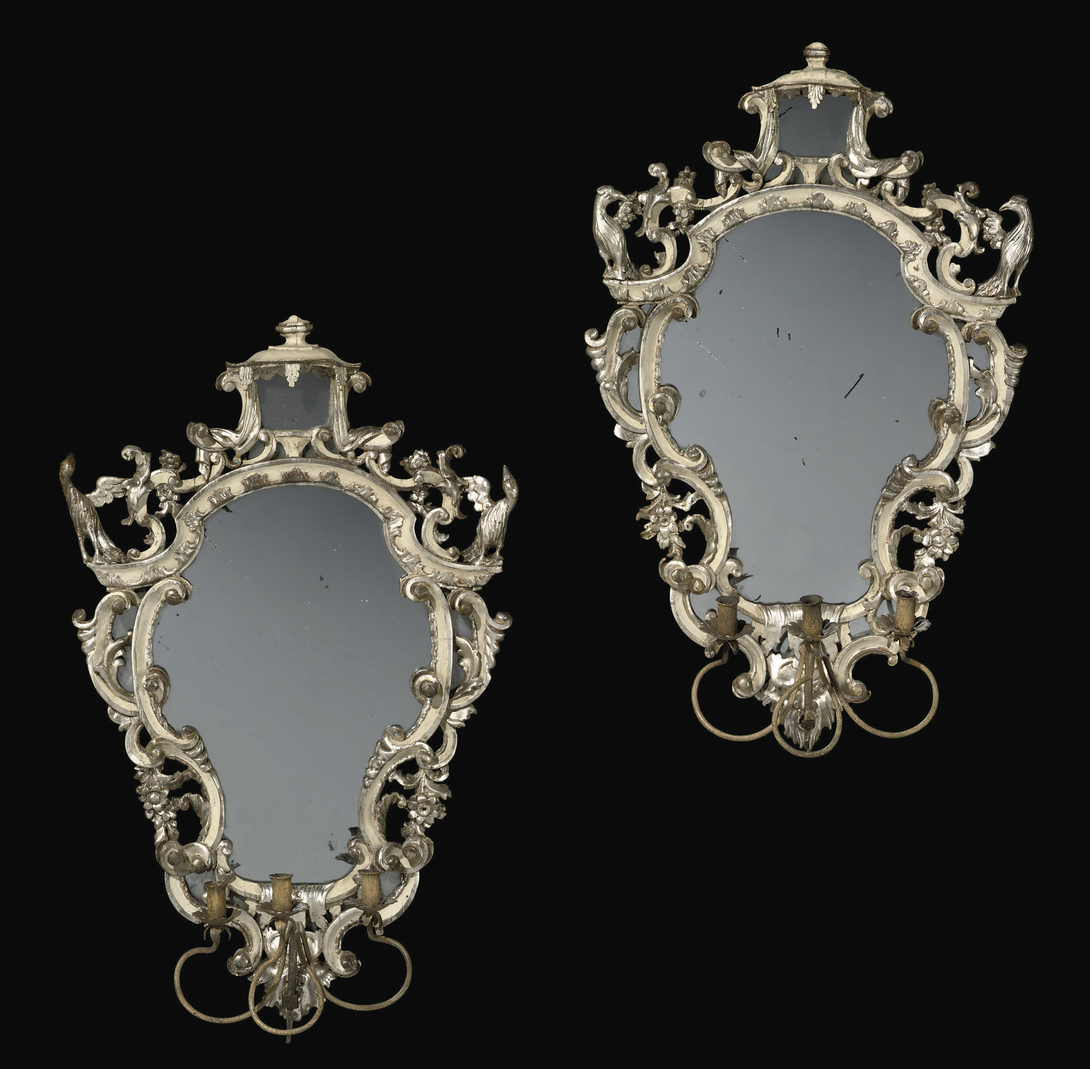 A PAIR OF SOUTH ITALIAN SILVER