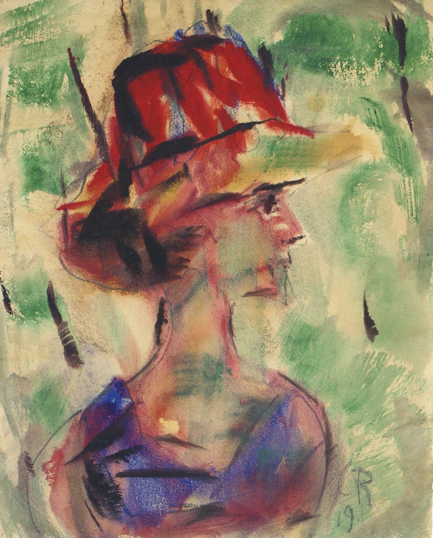 Weibliches Porträt (vermutlich Helene Rohlfs)