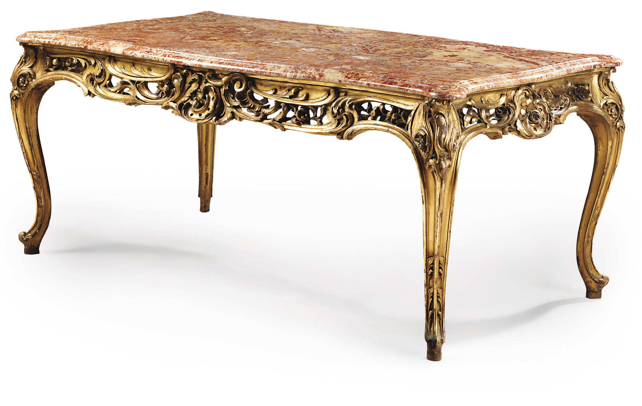 A FRENCH GILTWOOD CENTRE-TABLE
