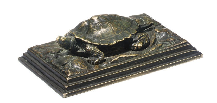 A FRENCH BRONZE STUDY ENTITLED