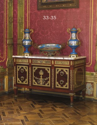 A GILT-METAL-MOUNTED SEVRES ST