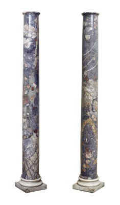 A PAIR OF ITALIAN BRECCIA AND