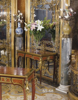 A FRENCH ORMOLU-MOUNTED AND BR