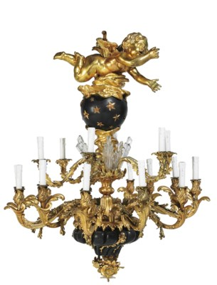A FRENCH ORMOLU AND BLUED-META