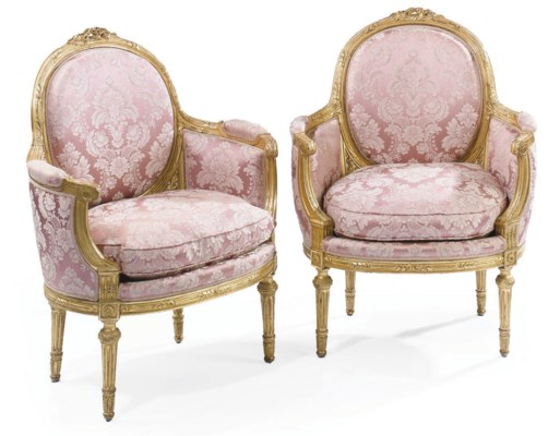 A PAIR OF FRENCH GILTWOOD BERG