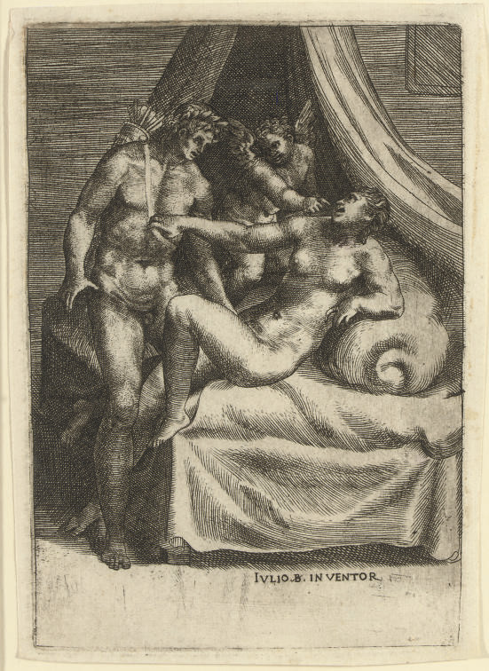 Cupid showing Daphne to Apollo, from Loves of the Gods (B. 157; Massari 58)