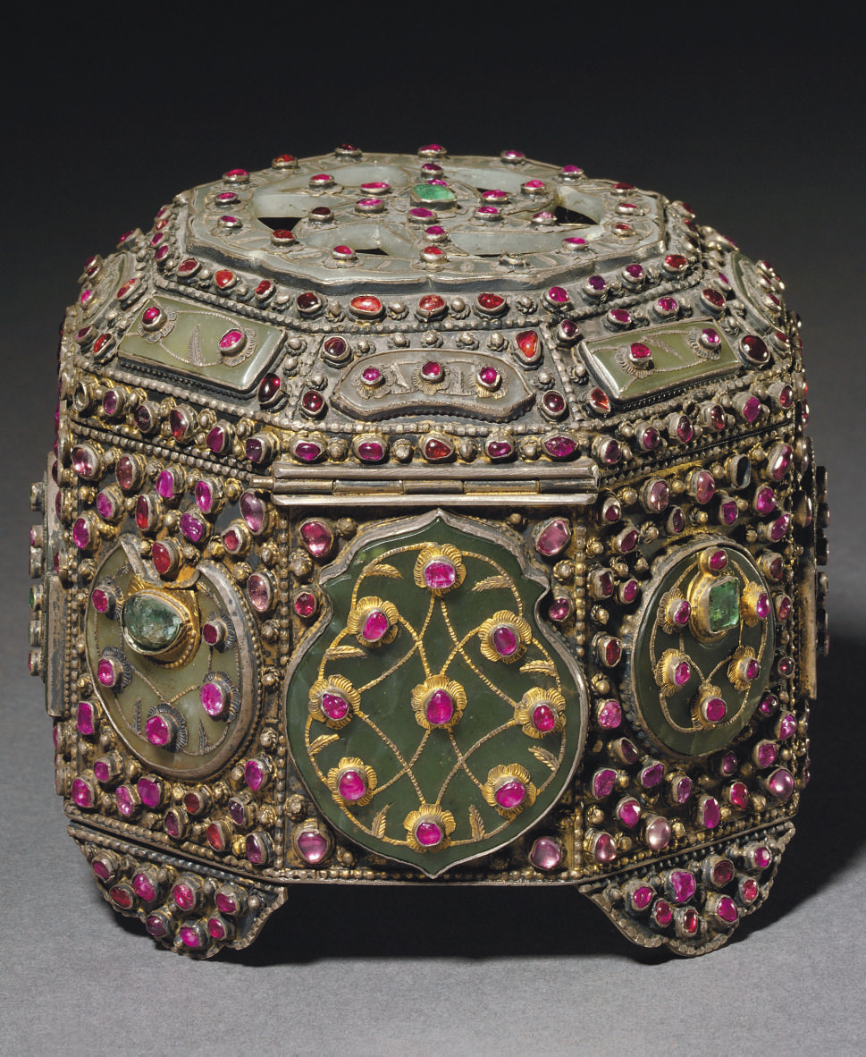 AN OTTOMAN HARDSTONE AND INSET