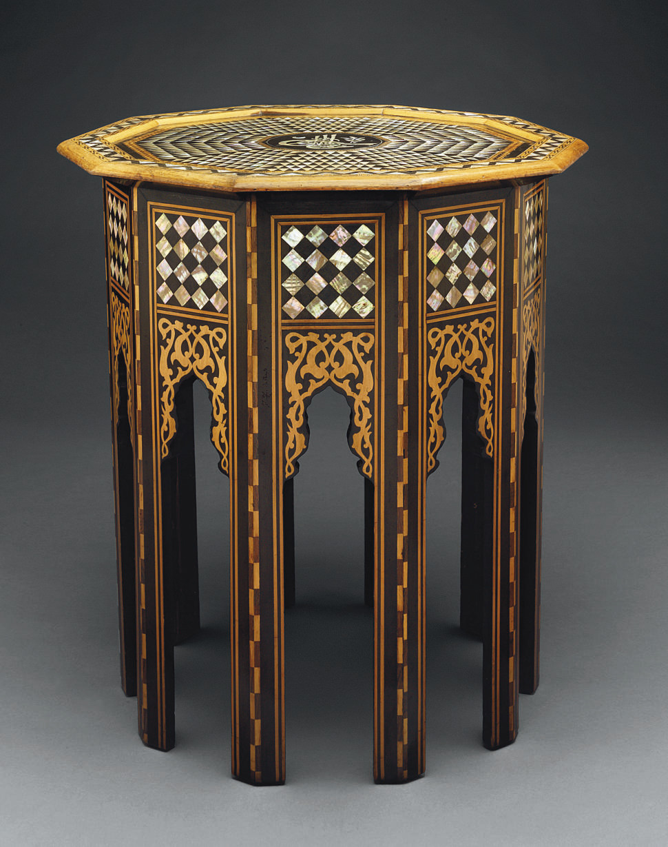 A MOTHER-OF-PEARL INLAID TABOU