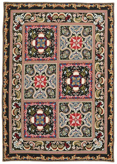 A RUSSIAN NEEDLEWORK RUG