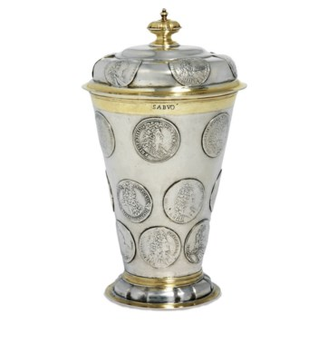 A BALTIC PARCEL-GILT SILVER BE