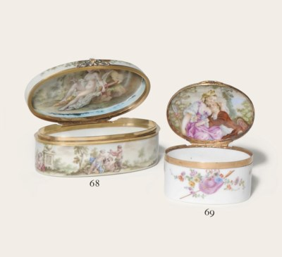A MEISSEN PORCELAIN GILT-METAL