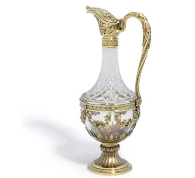 A FRENCH SILVER-GILT MOUNTED C