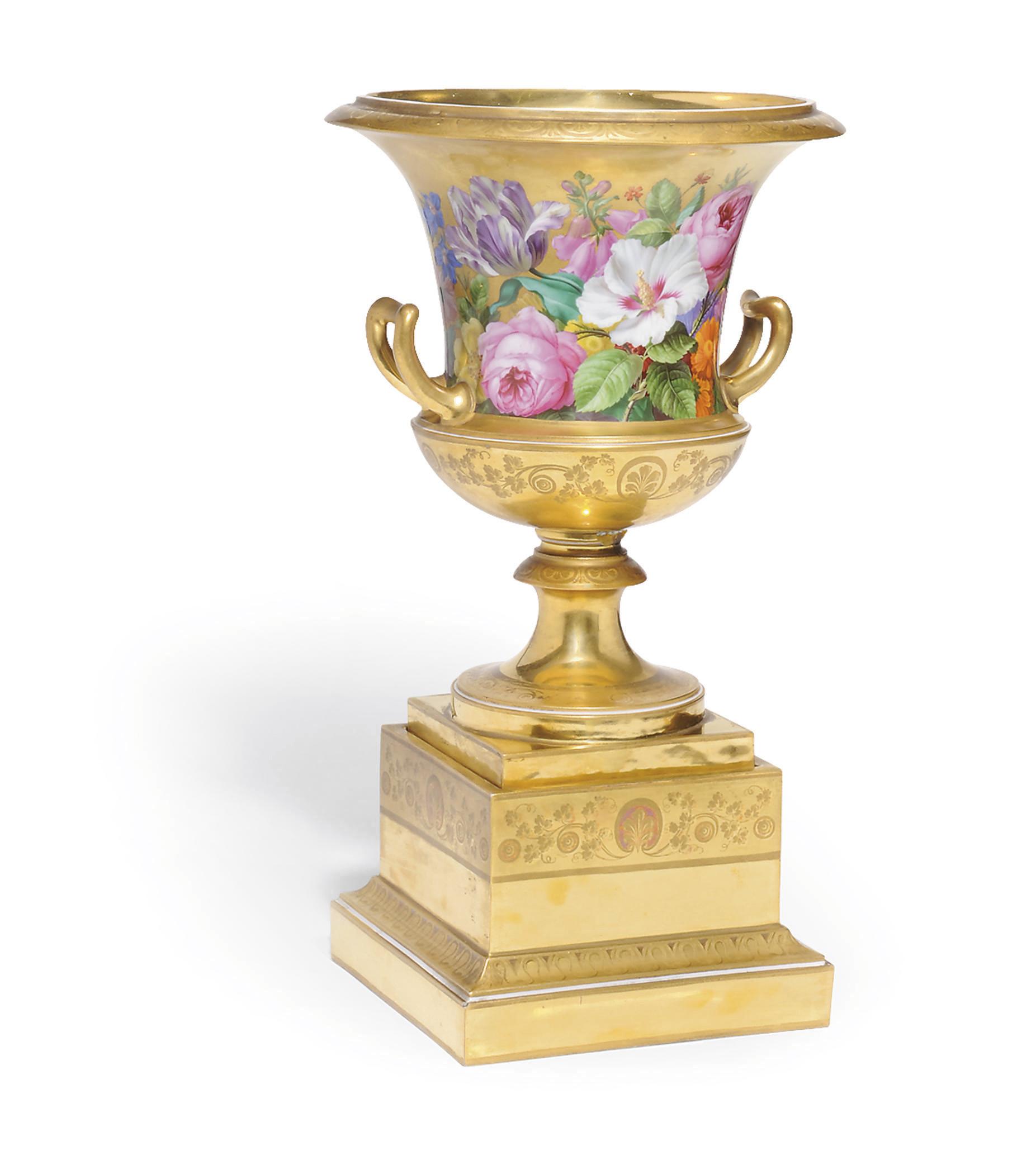 A VIENNA PORCELAIN GOLD-GROUND
