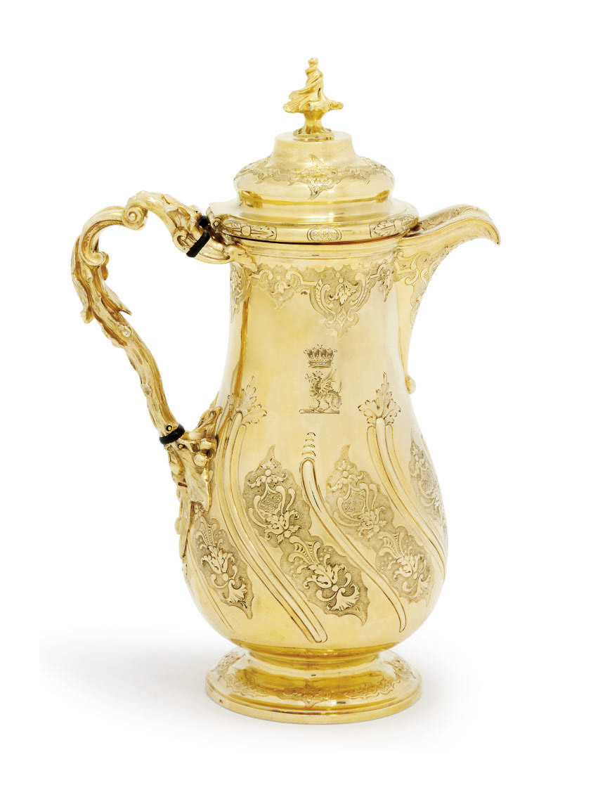 A GEORGE IV SILVER-GILT COFFEE