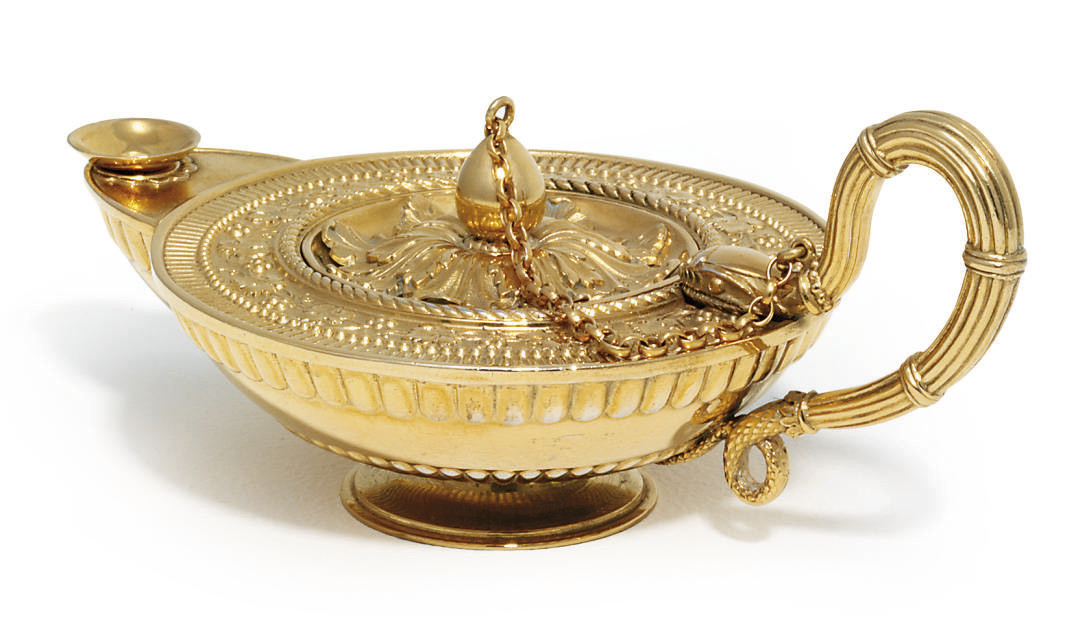 A GEORGE III SILVER-GILT SMOKE