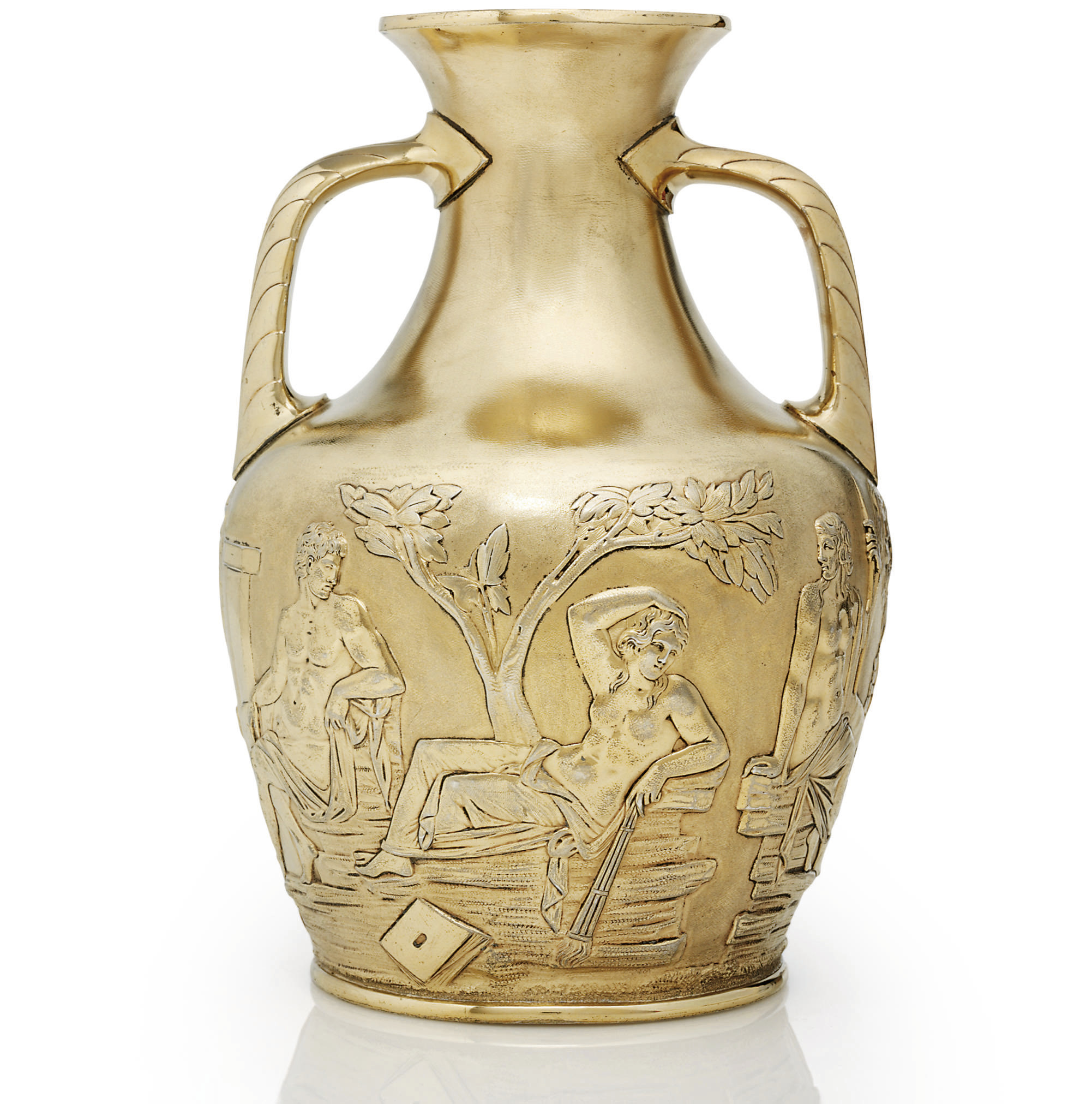 A VICTORIAN SILVER-GILT COPY OF THE PORTLAND VASE