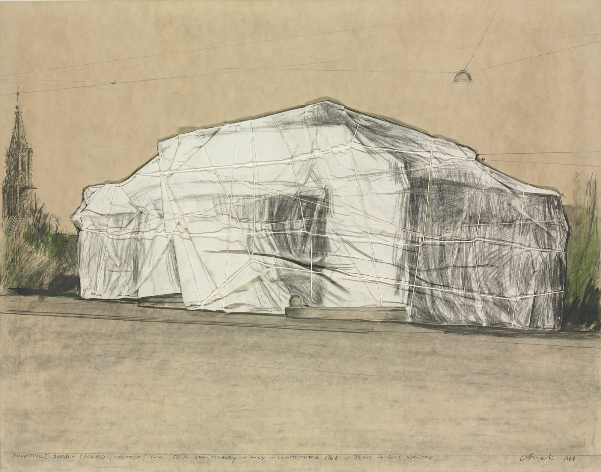 Christo B 1935 Kunsthalle Bern Packed Project For 50th