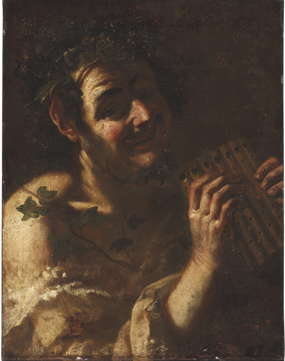A faun playing the panpipes