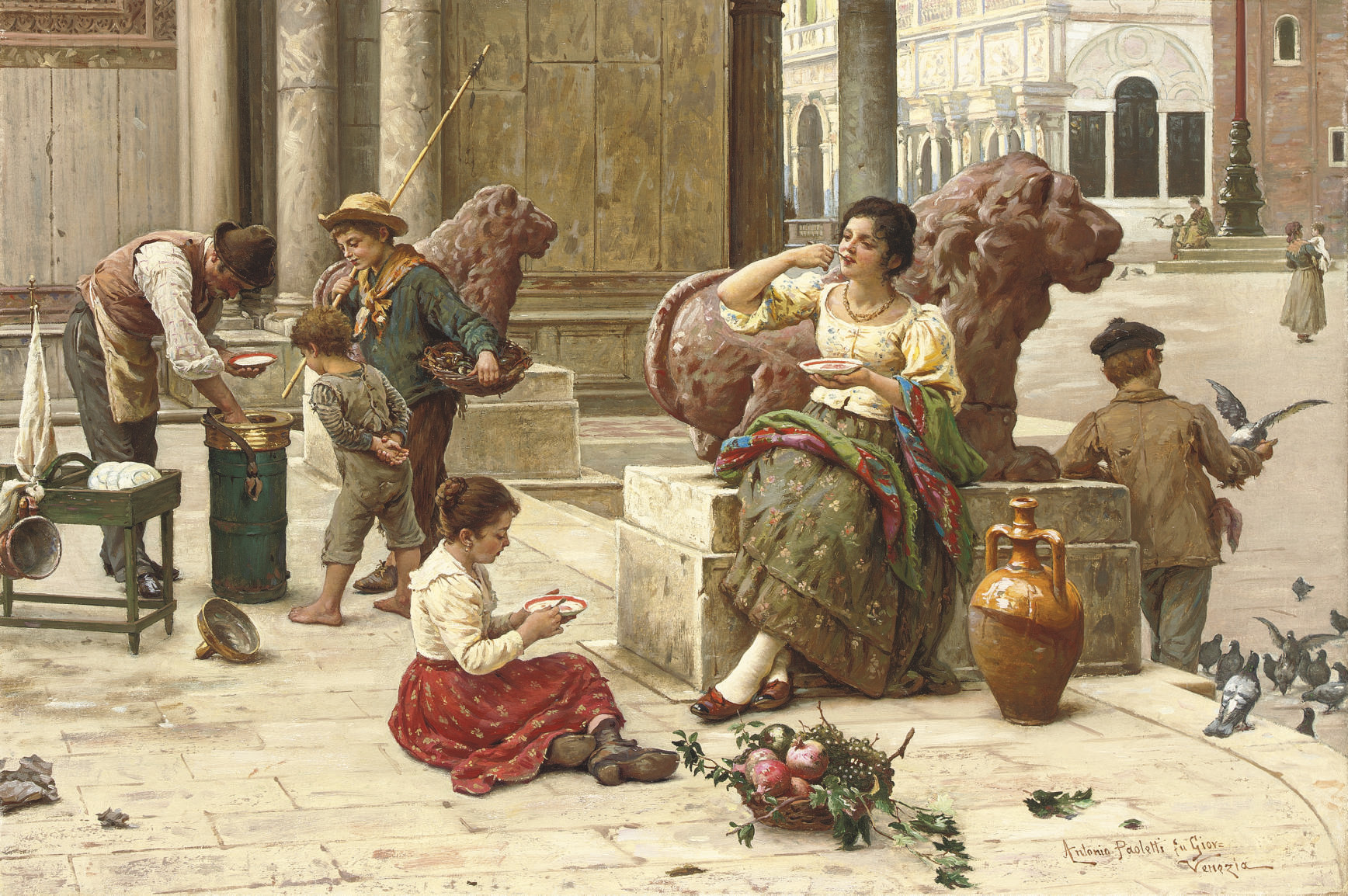 A Venetian ice cream seller