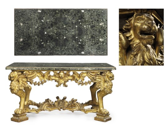AN ITALIAN GILTWOOD AND ORMOLU