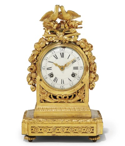 A LOUIS XVI ORMOLU EIGHT DAY S