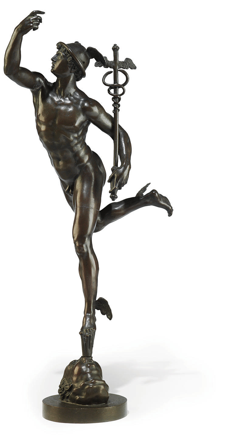 A BRONZE MODEL OF MERCURY IN F