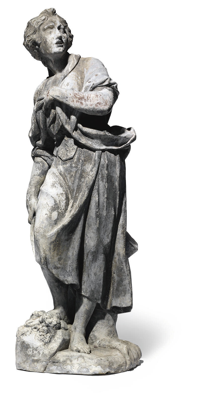 A LEAD STANDING FEMALE FIGURE