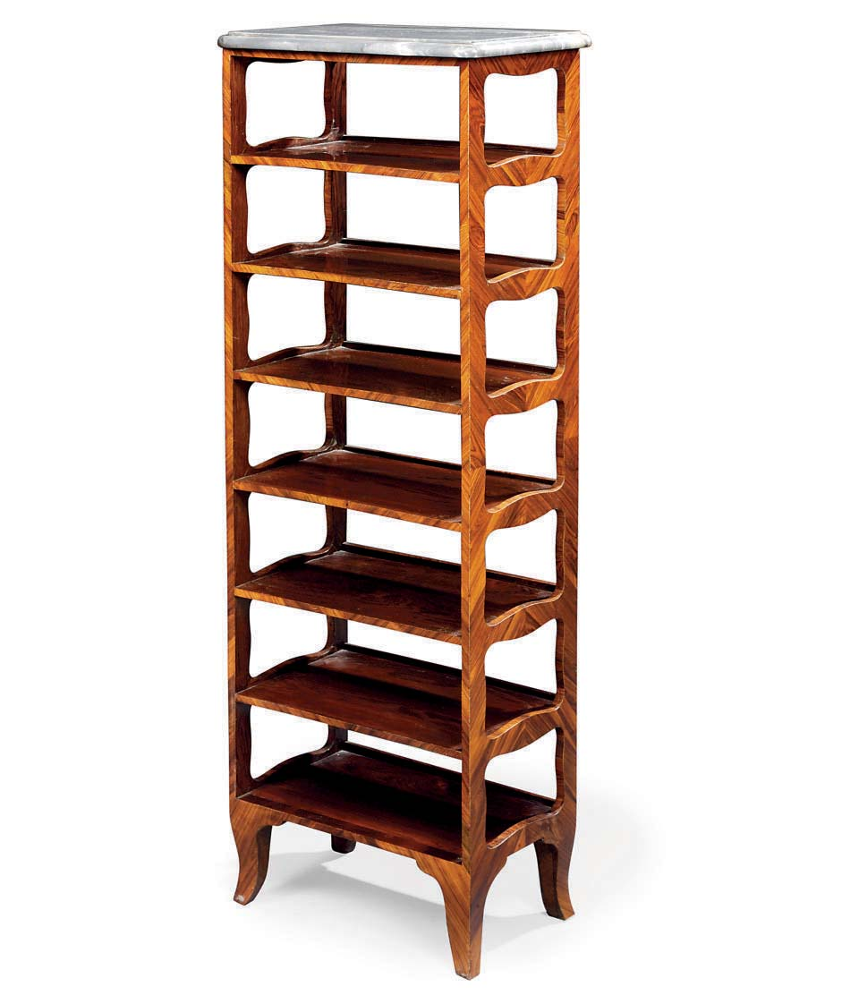 A LOUIS XV KINGWOOD ETAGERE