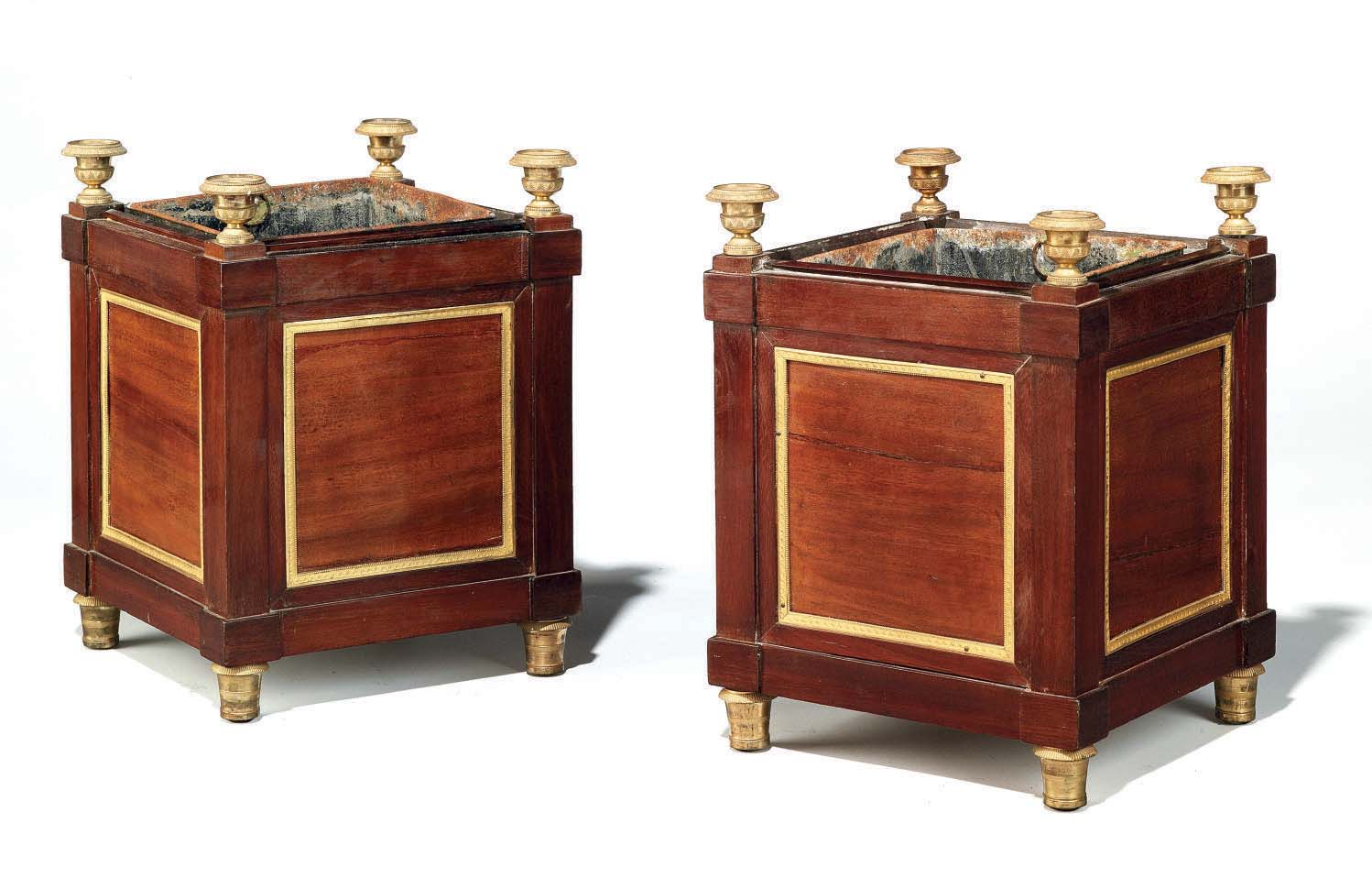 A PAIR OF EMPIRE ORMOLU-MOUNTE