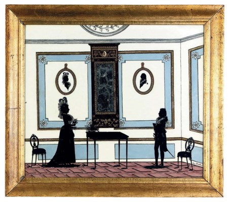A DANISH SILHOUETTE PAINTING-O