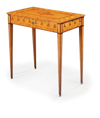 A LOUIS XVI SATINWOOD, TULIPWO