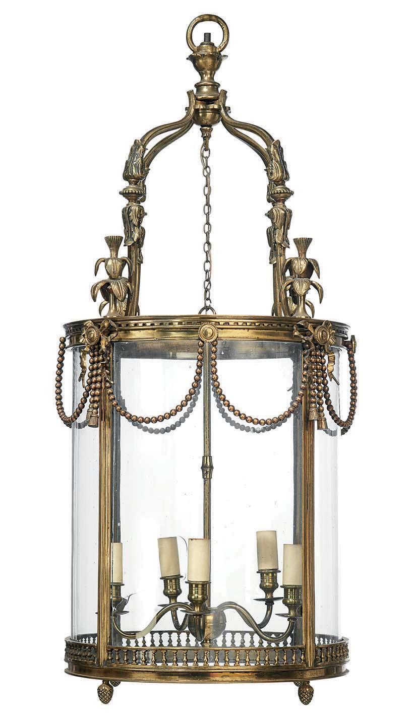A FRENCH ORMOLU FIVE-LIGHT HAL