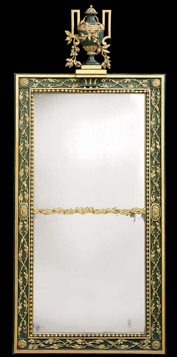 A GERMAN PARCEL-GILT AND GREEN