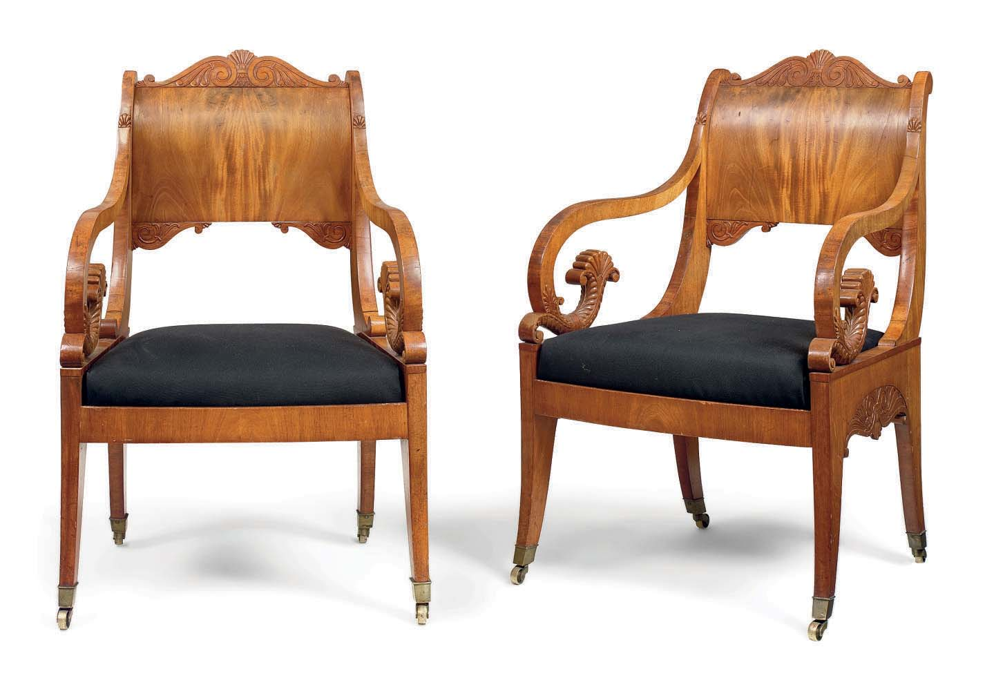 A PAIR OF RUSSIAN MAHOGANY OPE