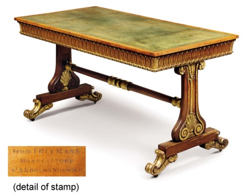 A GEORGE IV ROSEWOOD AND PARCE