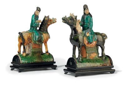 A MATCHED PAIR OF CHINESE POLY