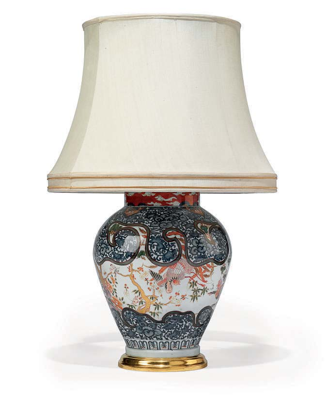 A CHINESE POLYCHROME-DECORATED