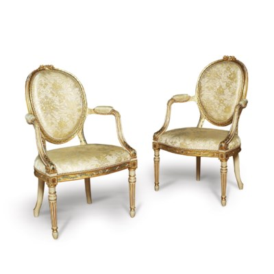 A PAIR OF GEORGE III CREAM AND