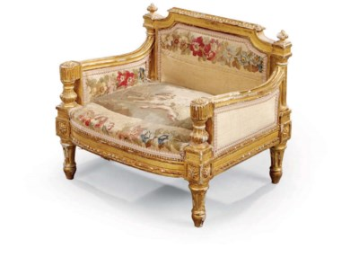 A LOUIS XVI GILTWOOD AND AUBUS