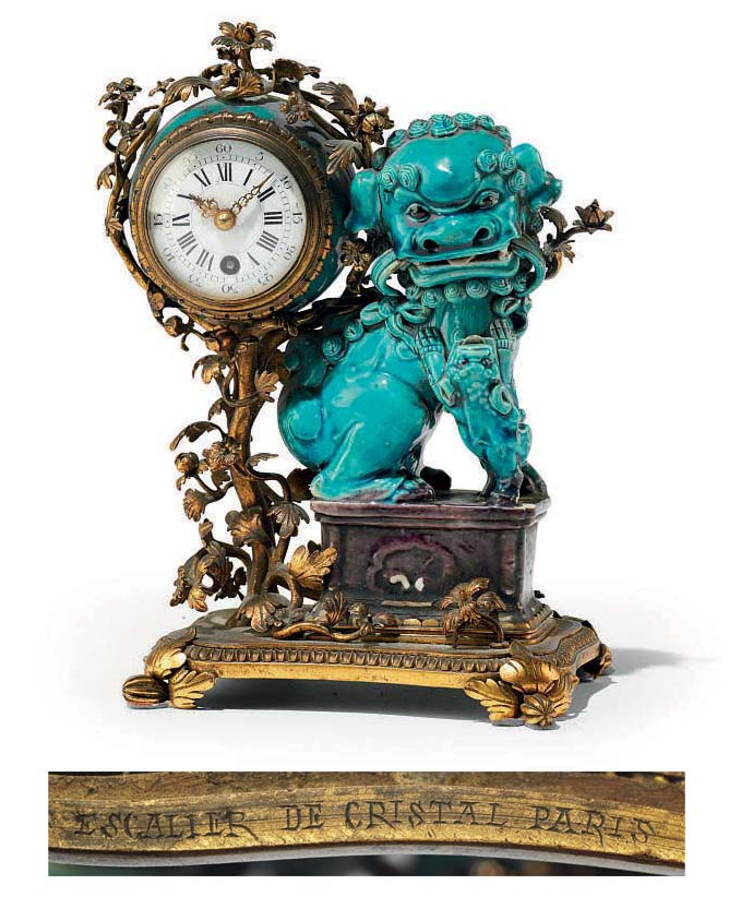 A FRENCH ORMOLU AND CHINESE TU