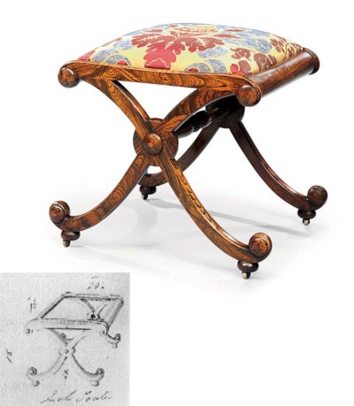 A REGENCY SIMULATED ROSEWOOD X