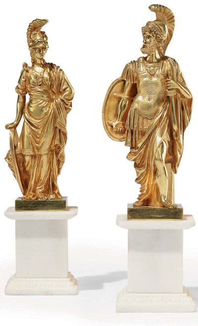 A PAIR OF FRENCH ORMOLU AND WH