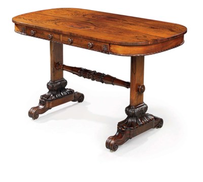 A GEORGE IV ROSEWOOD WRITING T