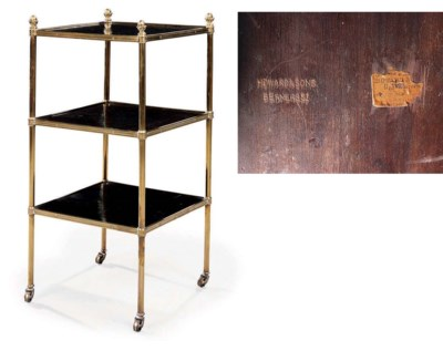 A LATE VICTORIAN BRASS AND EBO