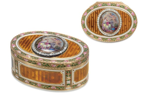 A Jewelled Gold and Guilloché