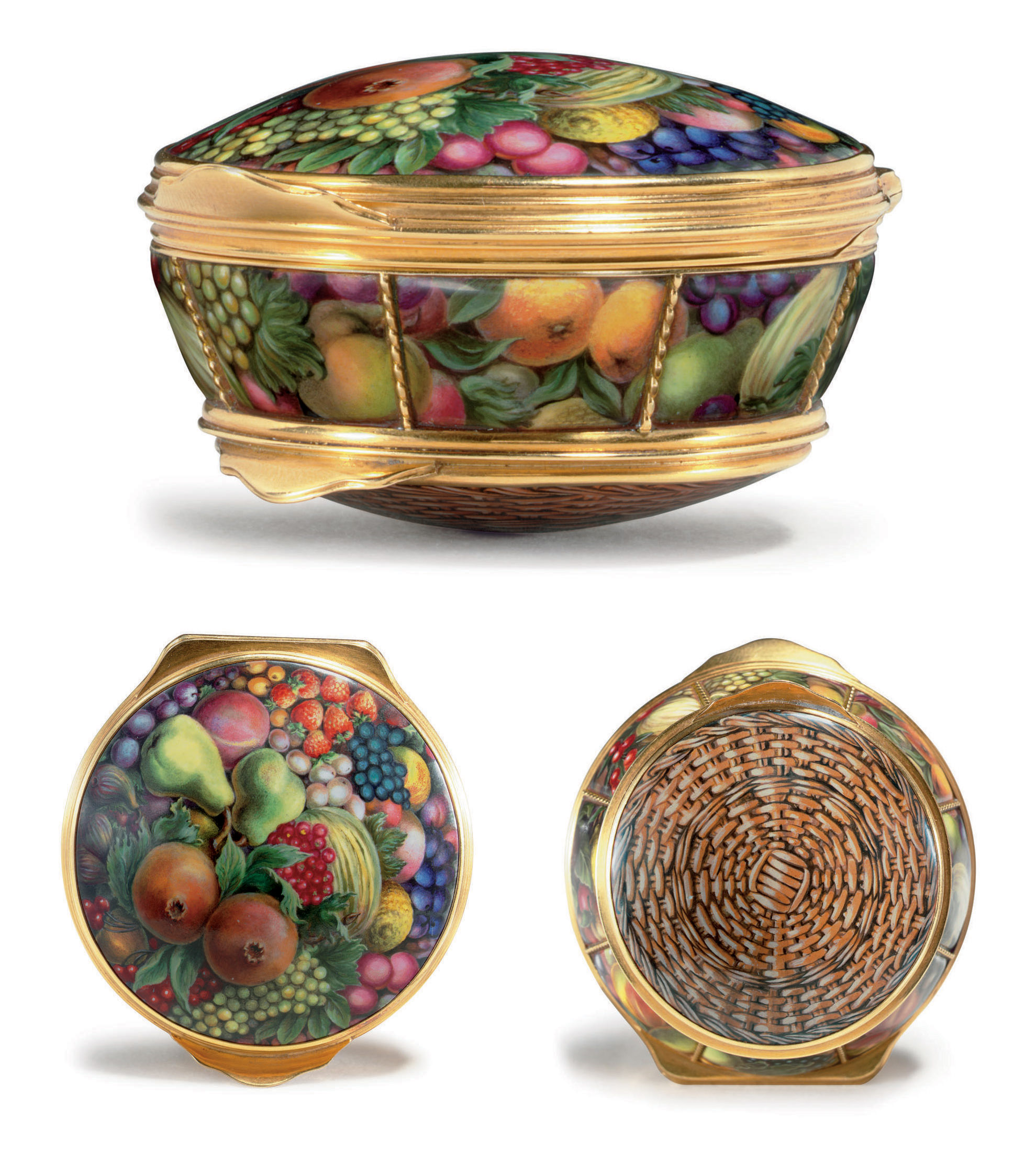 A Gold and Enamel Box Formed a